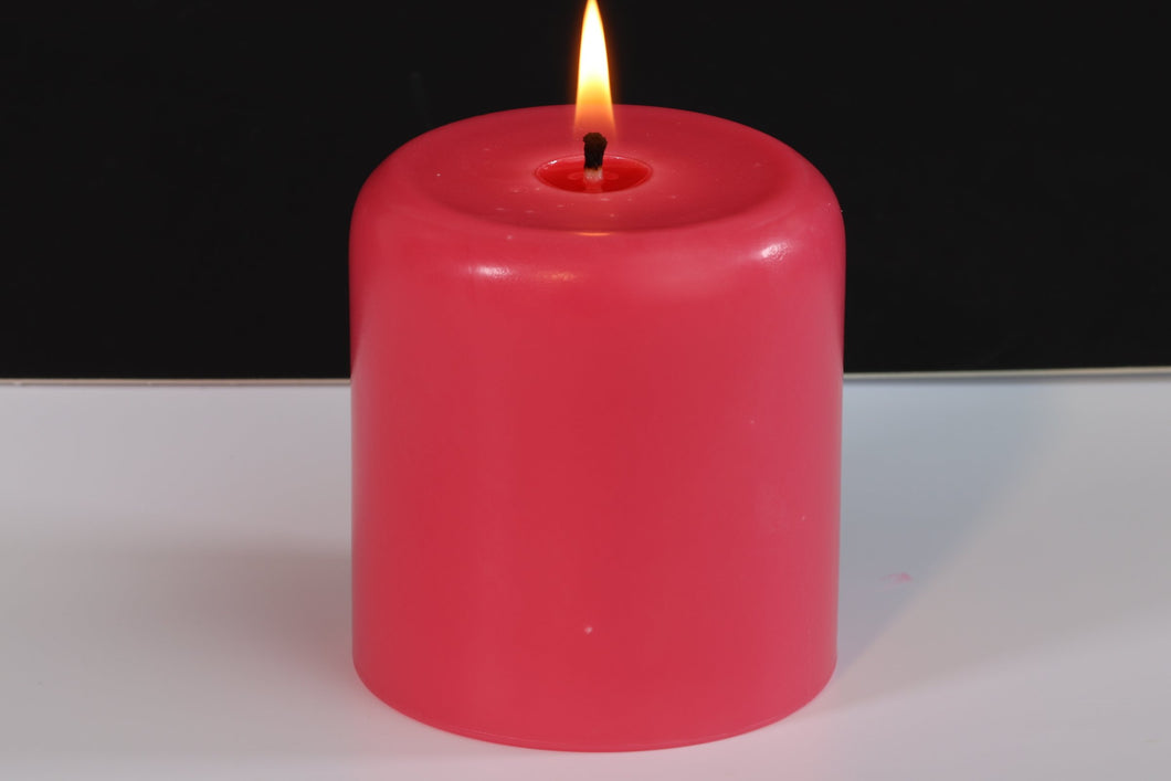 Tranquil Scented Soy Wax Pillar Candle