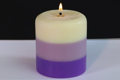 Vanilla, Lily & Lavender Scented Pillar Candle