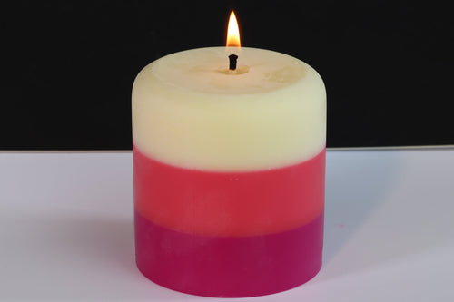 Vanilla, Orchid & Raspberry Scented Pillar Candle