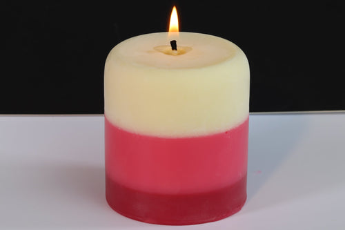 Vanilla, Tranquil & Garden Rose Scented Pillar Candle