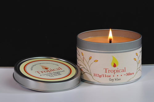 Tropical Scented Soy Wax Tin Candle