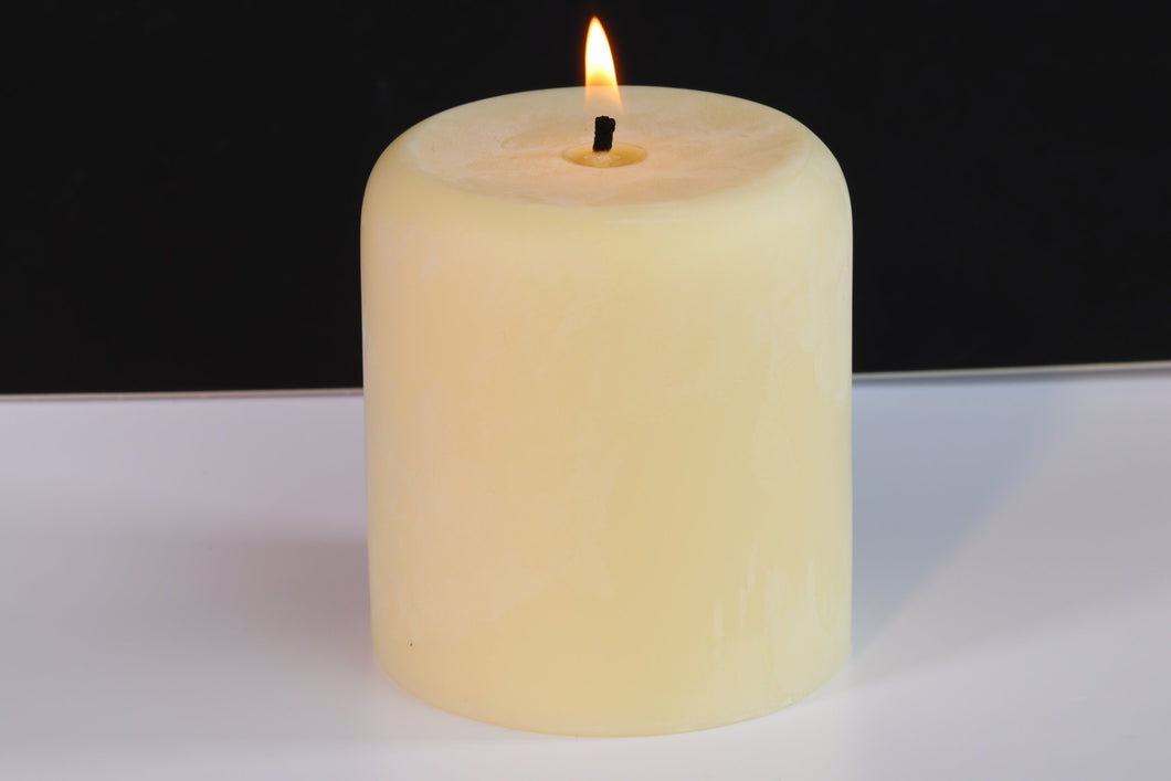 Vanilla Scented Soy Wax Pillar Candle