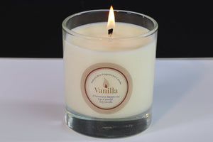 Vanilla Scented Soy Wax Glass Container Candle