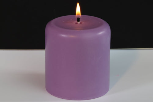 Lily Scented Soy Wax Pillar Candle