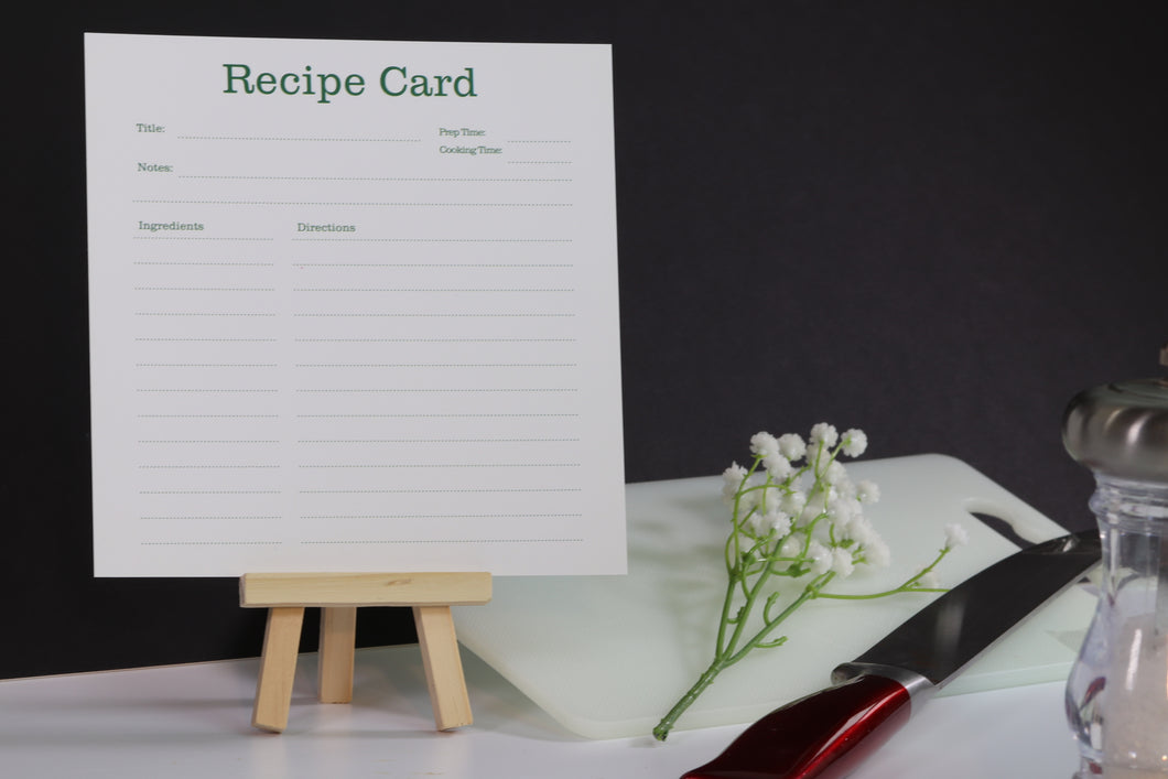 Plain & Simple Recipe Cards