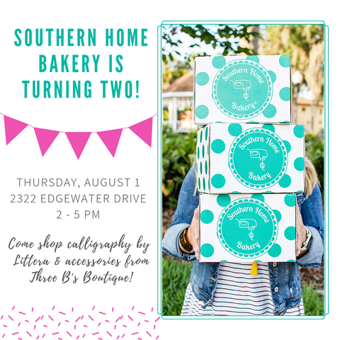 Southern Home Bakery Birthday Party August 1