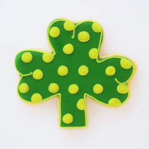 Custom decorated 3 Leaf Clover sugar cookie by Southern Home Bakery in Orlando, Florida.