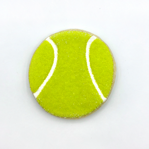 Tennis ball decorated sugar cookie from Southern Home Bakery in Orlando, Florida