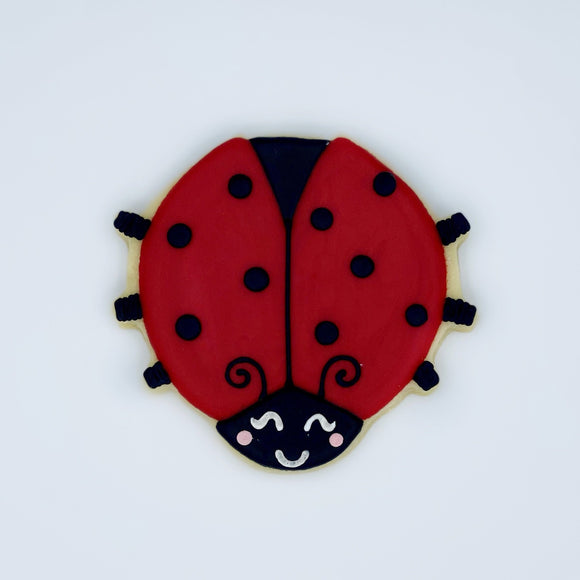 Custom decorated ladybug sugar cookie by Southern Home Bakery in Orlando, Florida
