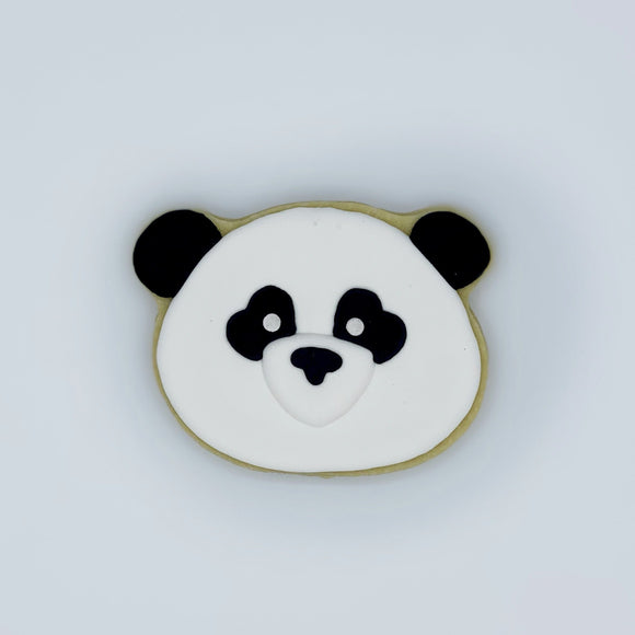 Custom decorated panda sugar cookie by Southern Home Bakery in Orlando, Florida