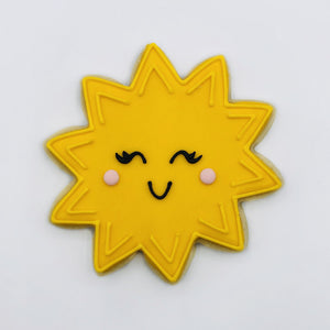 Custom decorated sunshine sugar cookie by Southern Home Bakery in Orlando, Florida