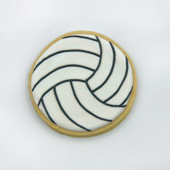 Volleyball decorated sugar cookie from Southern Home Bakery in Orlando, Florida