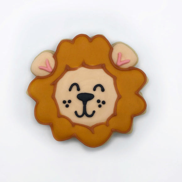 Custom decorated lion sugar cookie by Southern Home Bakery in Orlando, Florida
