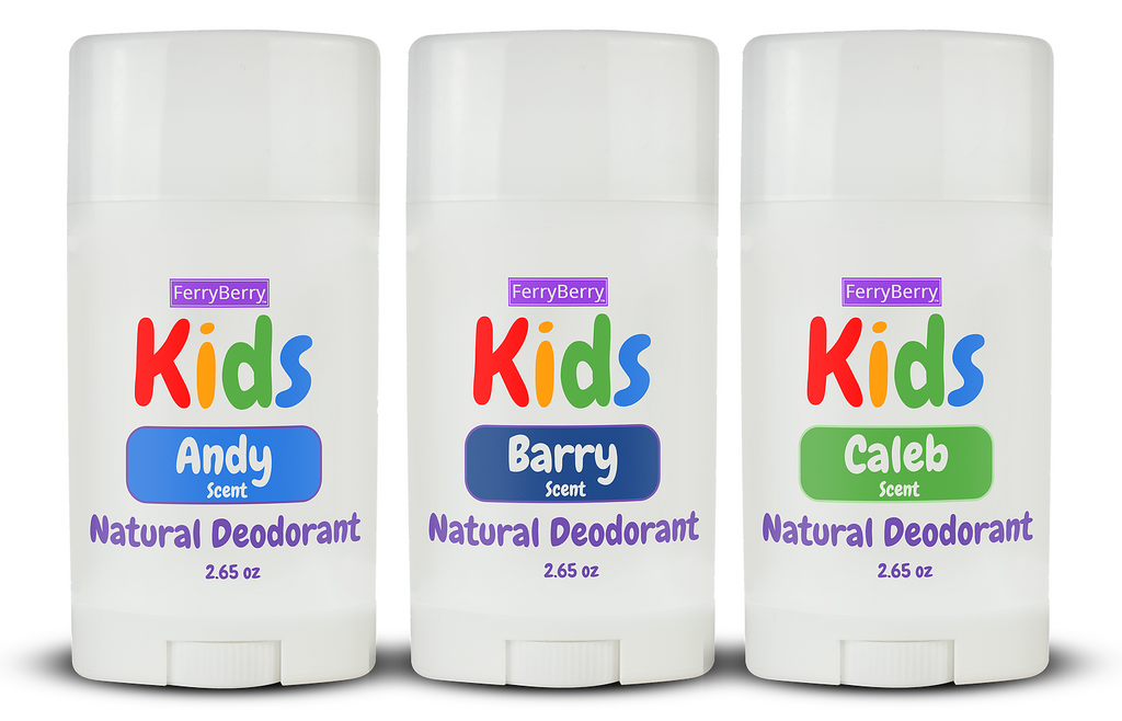 Kids Natural Deodorant - Boys Scents (3 Pack)