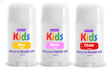 Kids Natural Deodorant - Girls Scents (3 Pack)