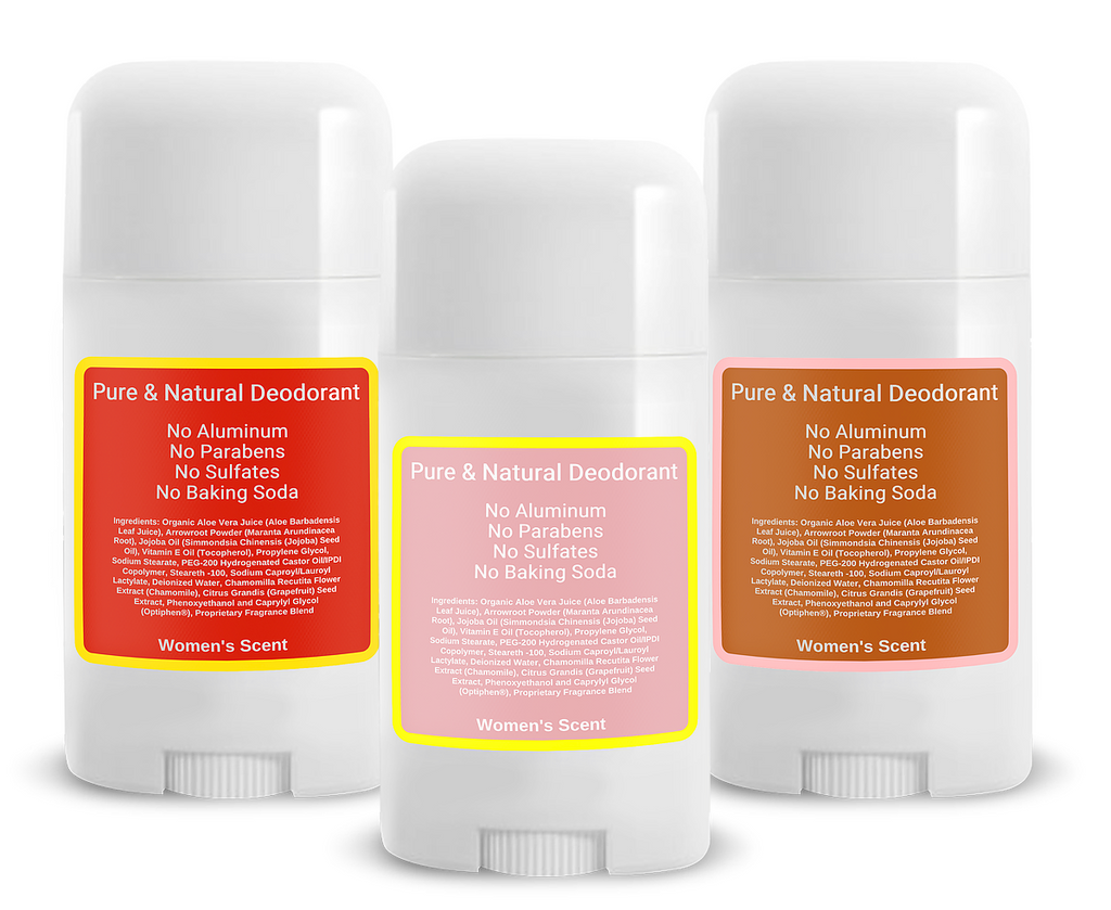 Combo Pack (W1, W2 & W3) Natural Deodorants