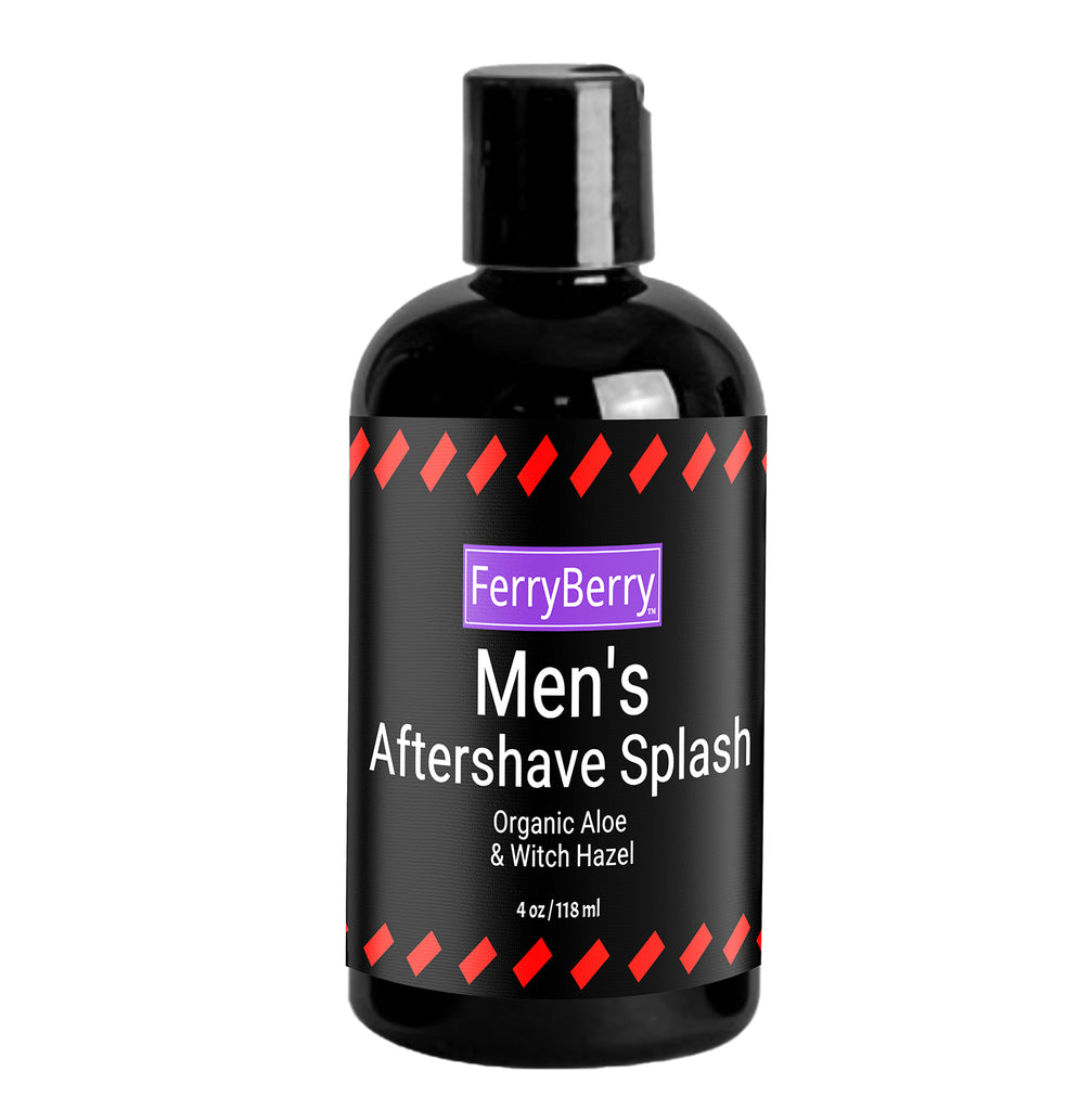 Men's Aftershave Splash with Organic Aloe & Witch Hazel