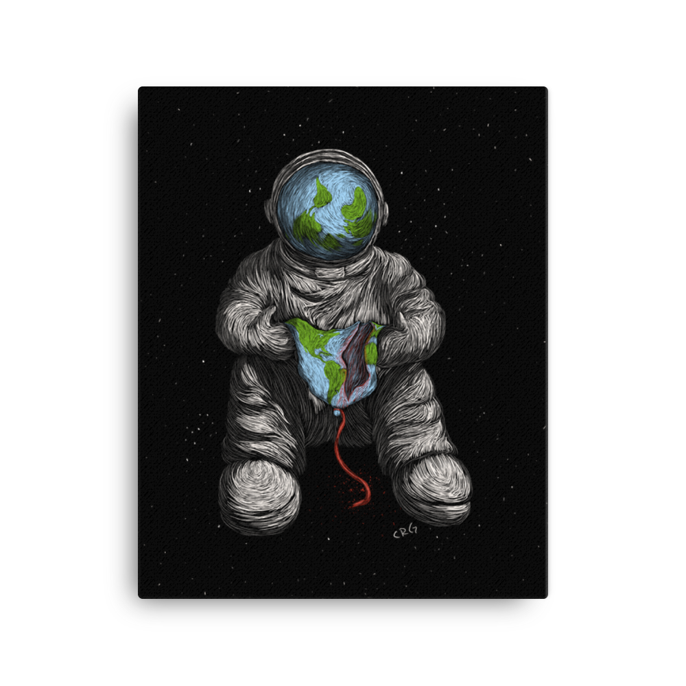 Astronaut with Popped Earth Balloon Art Prints