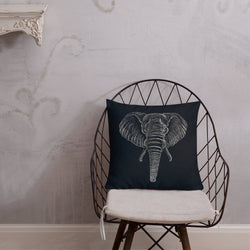 African Elephant Pillow