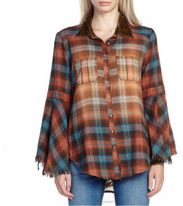 Estelle of Spain Shirt flannel mixed textile