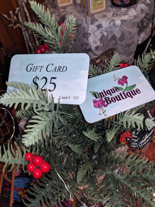UNIQUE BOUTIQUE GIFT CARD $25