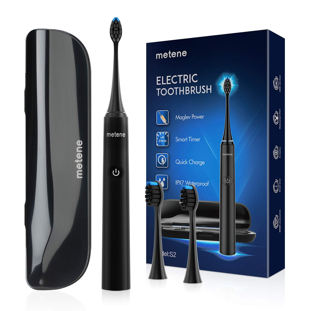 Load image into Gallery viewer, Electric Toothbrush, Rechargeable Power Sonic Toothbrush with 40000VPM, 5 Optional Modes, Smart Timers&2 DuPont Brush Heads, metene Electronic Toothbrush for Adults with Travel Case, IPX7 Waterproof