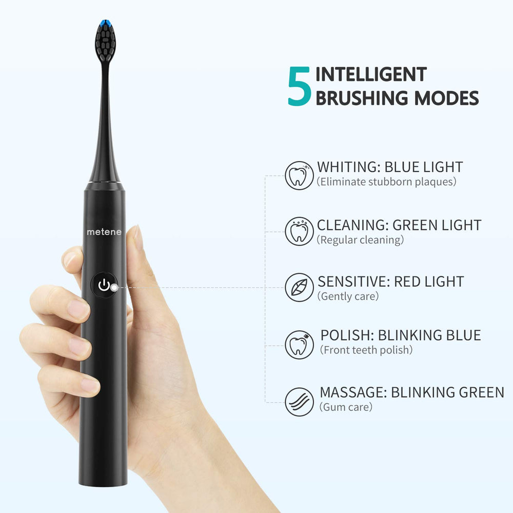 Electric Toothbrush,2 DuPont Brush Heads