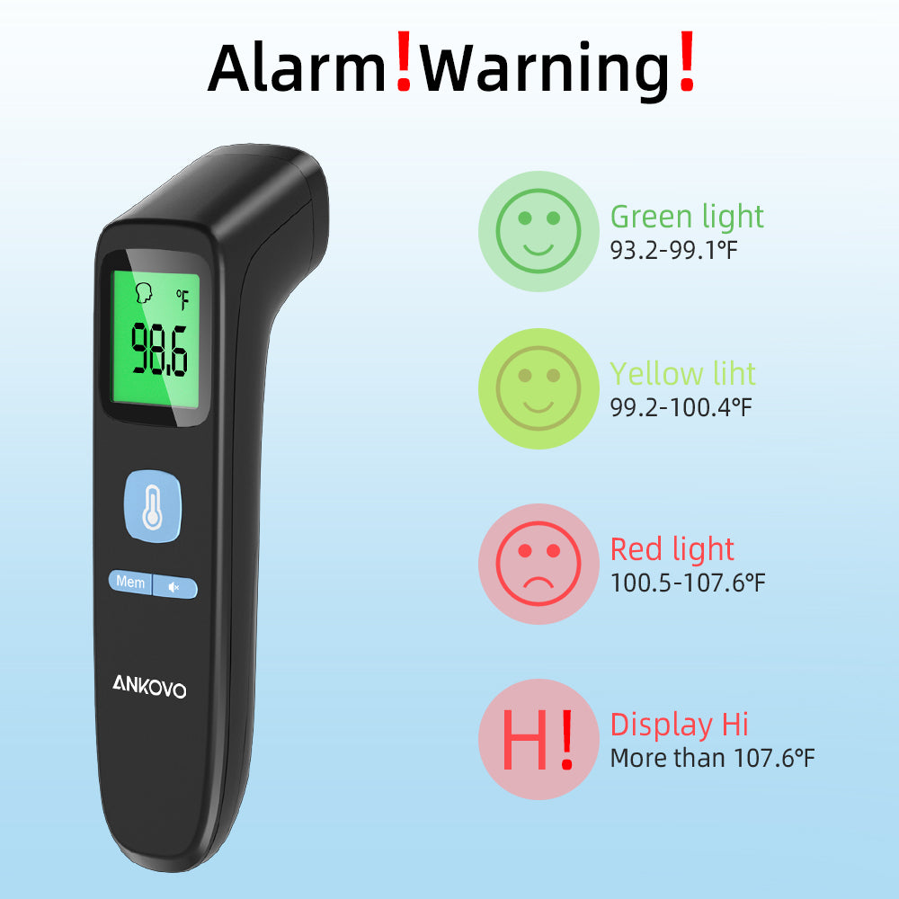 Infrared Thermometer with Forehead and Object Mode