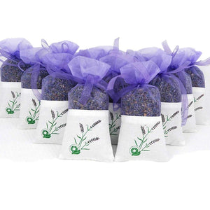 Metene 10 Pack Scented Dried Lavender Buds Aromatic Air Fresh Sachets Dry Flowers Herb Home Decoration Fragrant Sachets