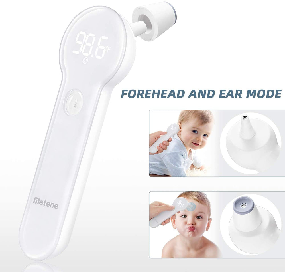 Load image into Gallery viewer, Metene Thermometer Forehead and Ear Toddler Thermometer Medical Thermometer for Baby, Kids, Toddlers, and Adults, Fast Reading and Accurate with Fever Indicator