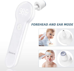 Metene Thermometer Forehead and Ear Toddler Thermometer Medical Thermometer for Baby, Kids, Toddlers, and Adults, Fast Reading and Accurate with Fever Indicator