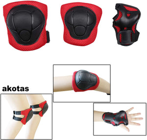 Akotas Kids/Youth Knee Pad Elbow Pads Guards Protective Gear Set for Roller Skates Cycling BMX Bike Skateboard Inline Skatings Scooter Riding Sports