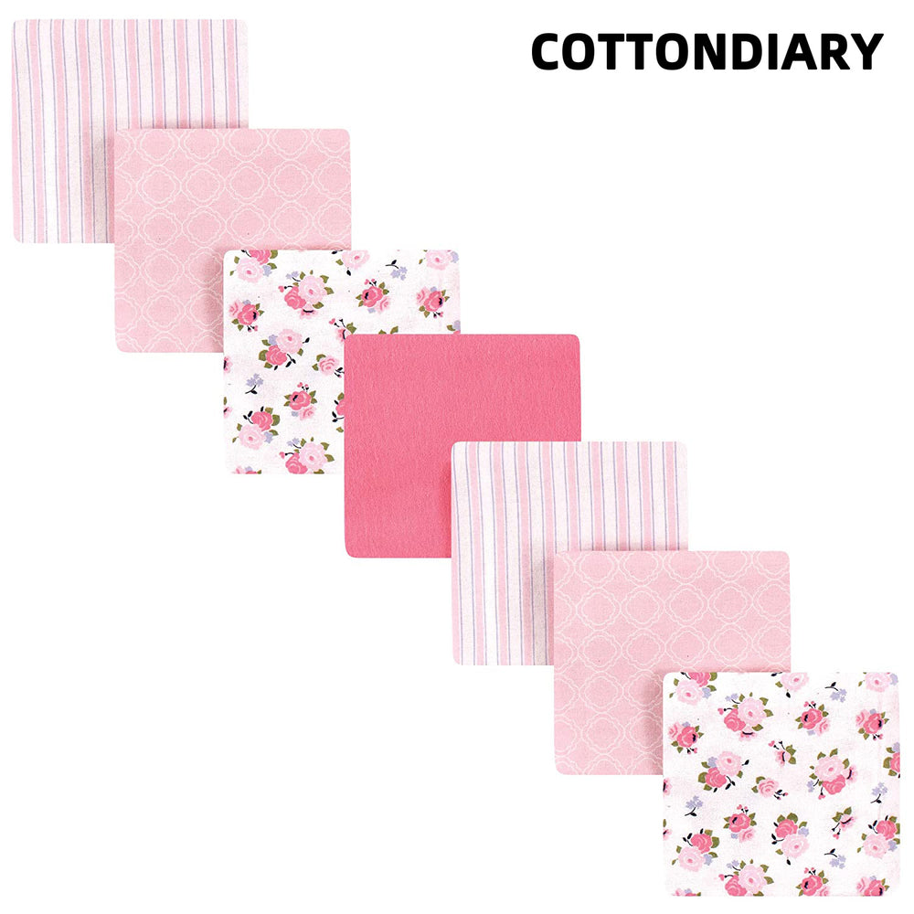 COTTONDIARY Unisex Baby Cotton Receiving Blankets Bundle, Garden, One Size
