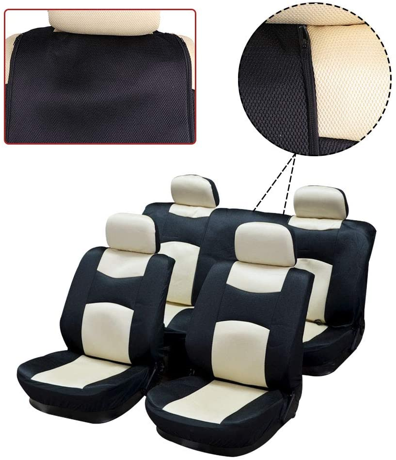 LPOW Head Rests for Seats for Motor Cars- 100% Breathable Mesh Cloth Stretchy Durable for Most Cars Trucks