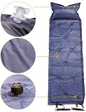 LPOW Liners Adapted to Sleeping Bags for Camping, Camping Sleeping Pad Upgraded Inflatable Camping Mat with Pillow for Backpacking, Traveling, Hiking, Durable Waterproof Compact Ultralight Hiking Pad