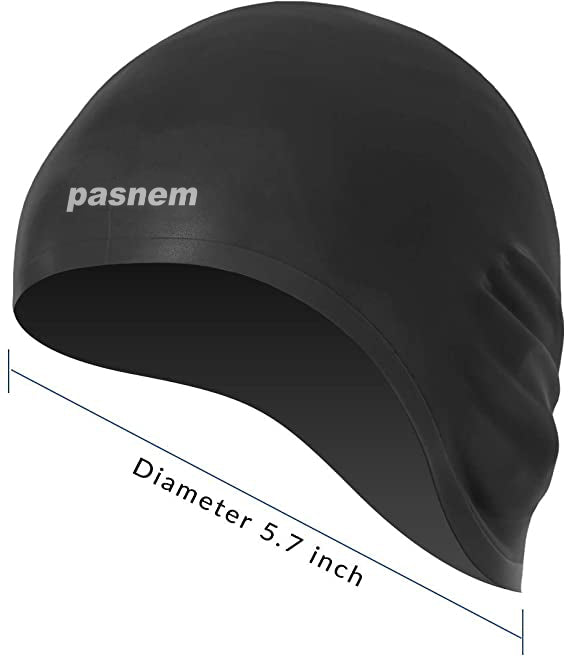 Load image into Gallery viewer, pasnem Swim Cap, 3D Ergonomic Design Swimming Cap for Women Men Long Hair Short Hair Silicone Adult Swim Cap with Great Elasticity Ear Protection