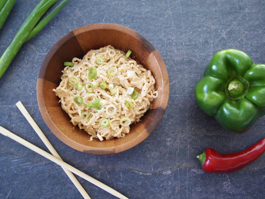 Spicy Cashew Butter Shirataki Noodles