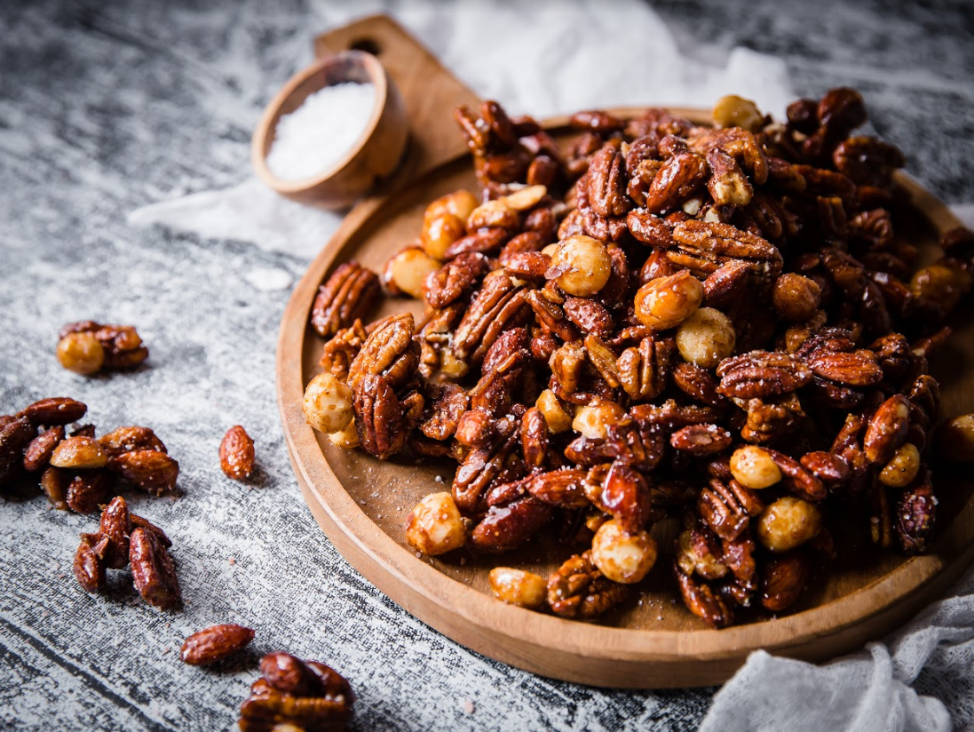 Spicy, Sweet, Sticky Nuts