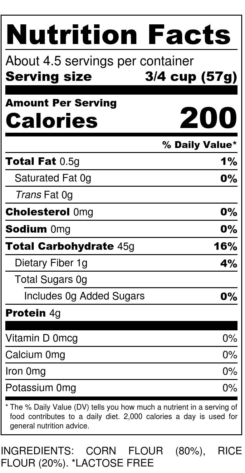 Gluten-Free Macaroni Nutrition Facts