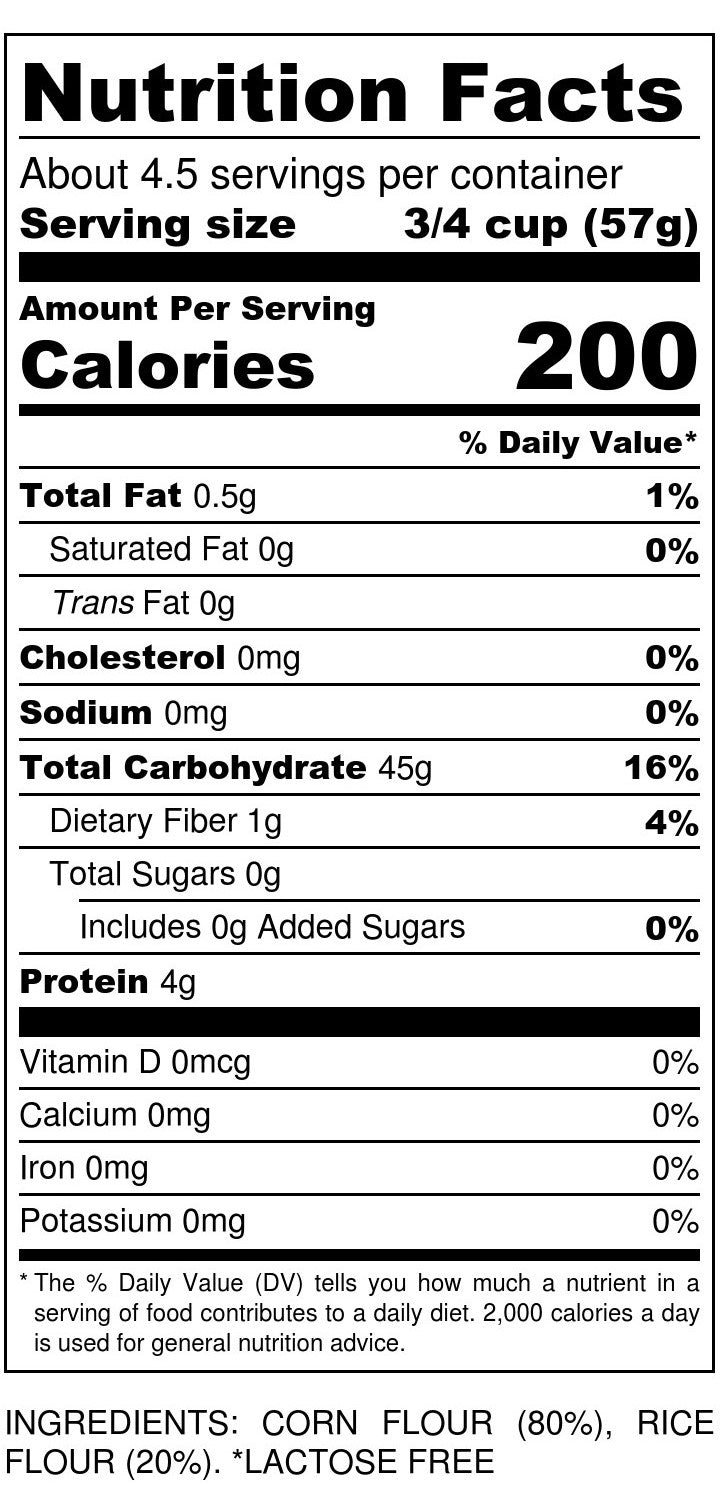Gluten-Free Penne Pasta Nutrition Facts