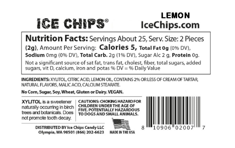 Lemon Ice Chips Nutrition Facts