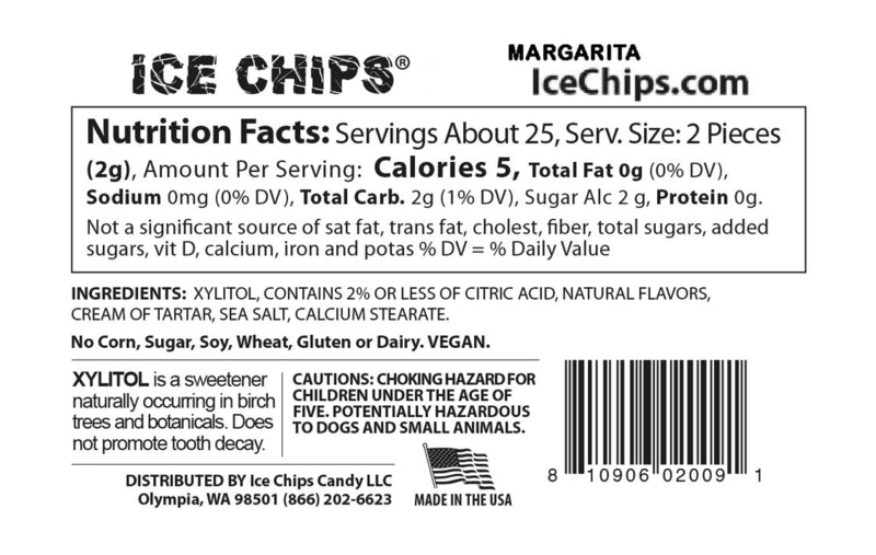 Margarita Ice Chips Nutrition Facts