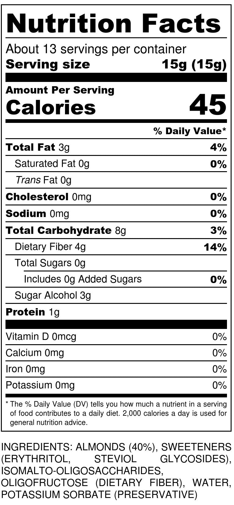 Marzipan Nutrition Facts