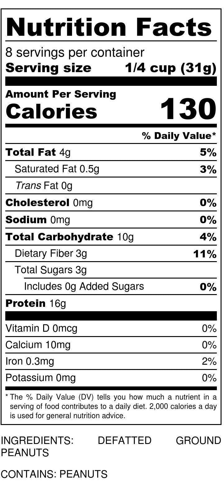 Peanut Flour Nutrition Facts