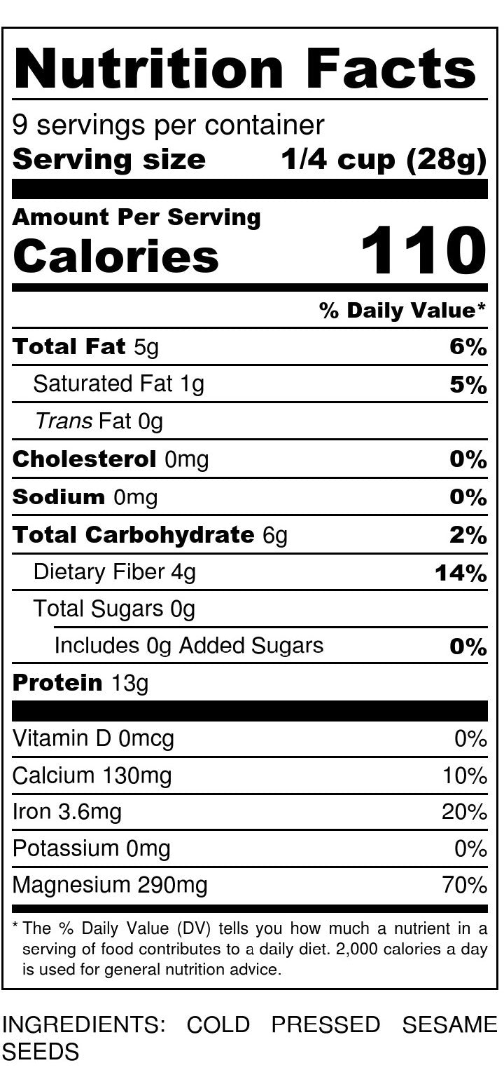 Sesame Flour Nutrition Facts