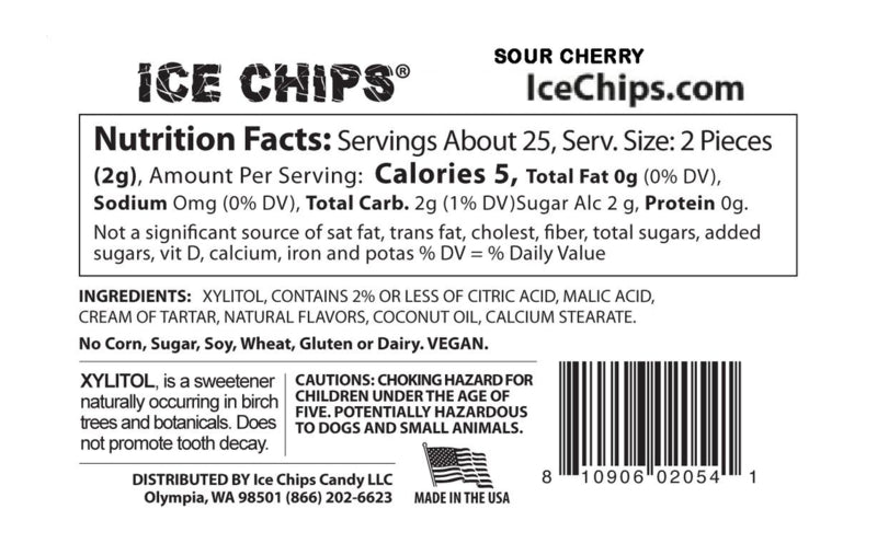 Cherry Ice Chips Nutrition Facts
