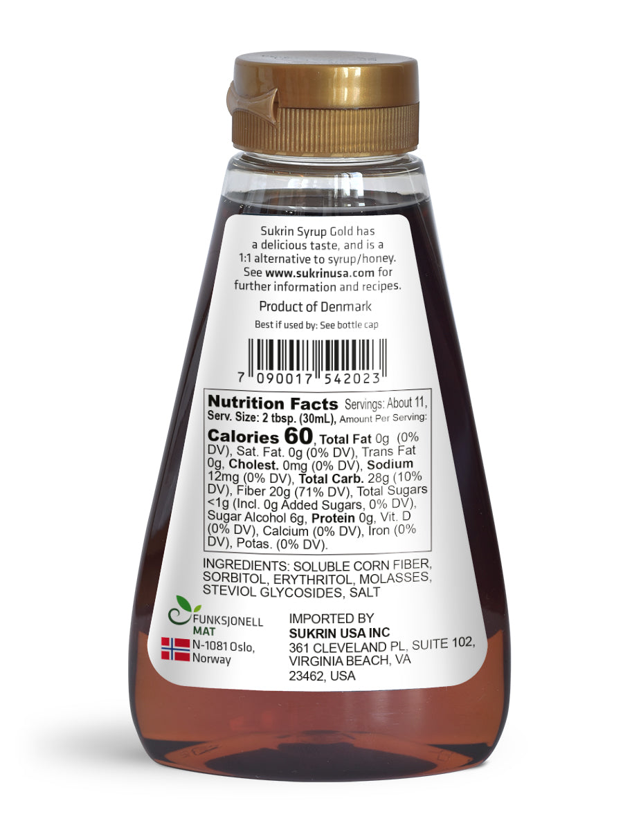 Sukrin Syrup Gold Nutrition Facts