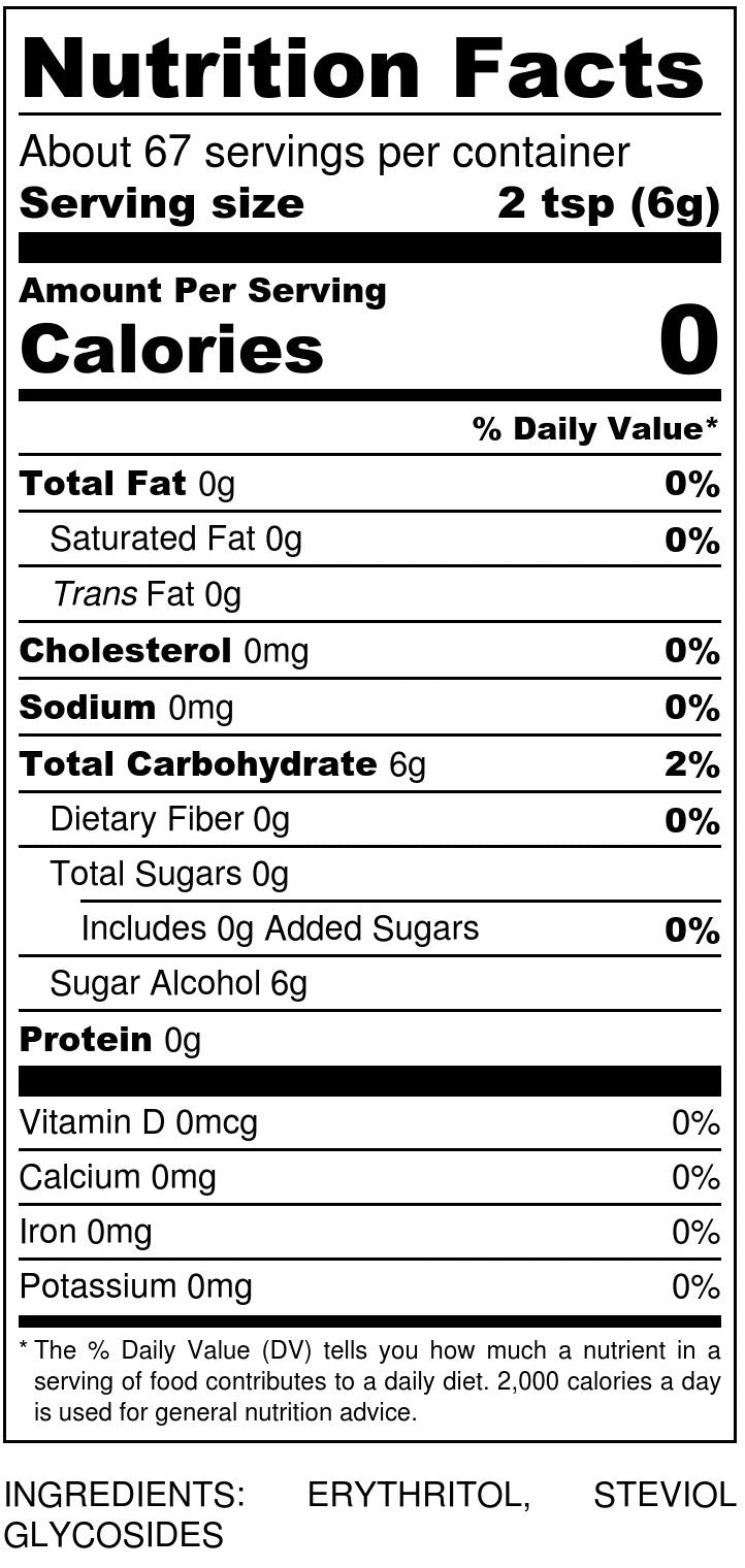 Sukrin Icing Sugar Nutrition Facts