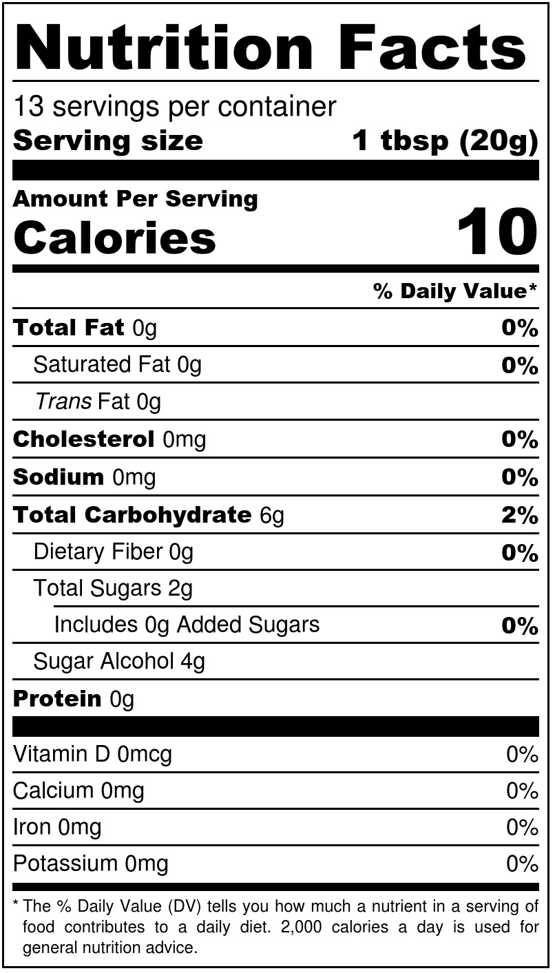Sukrin Strawberry Jam Nutrition Facts