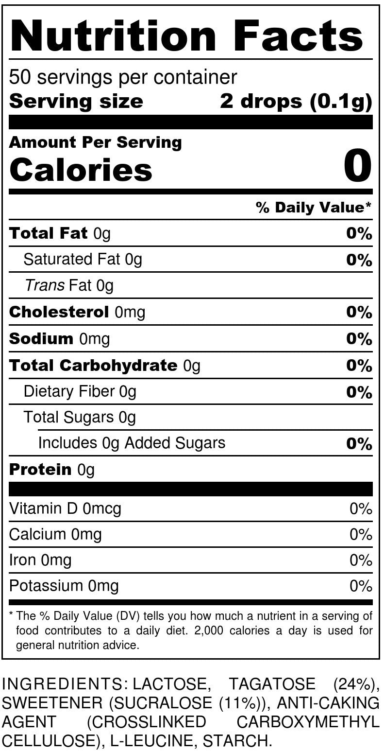 Tagatesse Dispenser Nutrition Facts